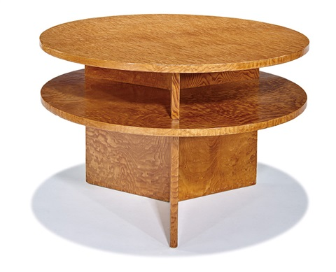 Circular table with shelf by D.I.M. (Decoration Interieure Moderne ...