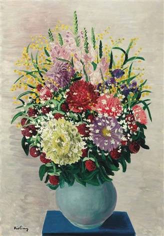 fleurs au vase vert by moïse kisling
