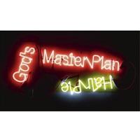 god's master plan; hair pie by jason rhoades