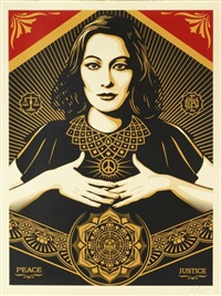 peace justice woman 2 by shepard fairey