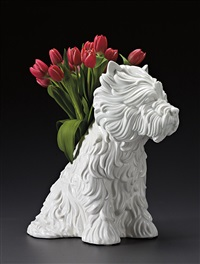 puppy vase by jeff koons