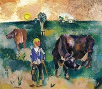 paysan et vaches by jean timmermans