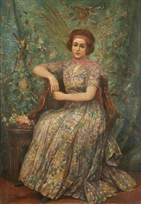 portrait de jeune fille by georges (ferdinand) lemmers