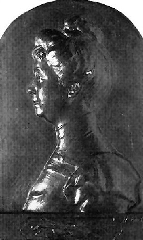 portrait of a woman by henri crous vidal