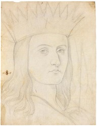 head study of a king by julius schnorr von carolsfeld