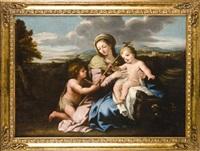 la virgen con niño y san juan bautista joven by giovanni francesco romanelli