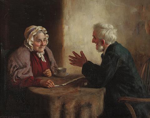Результат изображения для Charles Spencelayh, «Игра в домино»
