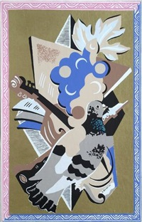 nature morte au pigeon (pl.13 from fleures et masques) by gino severini
