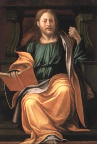 enthroned apostle by giovanni francesco penni