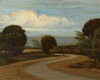 chemin dans un paysage by jules adler
