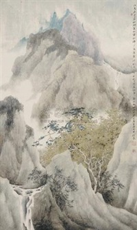 拟唐人刘长卿秋奇岭诗意 (landscape after liu changqing's poem) by xu xinrong