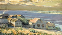 landscape by the volga by jakob weber