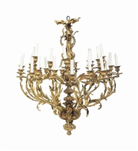 a louis xv style ormolu thirty-light chandelier by anonymous-french (20)