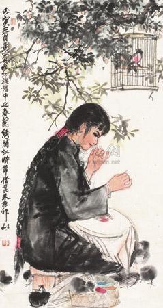春兰绣脯红 girl by huang zhou