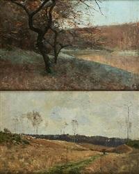 givre à comblain et lisière de bois (2 works) by camille wolles