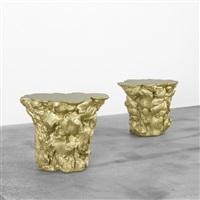 gold stools (pair) by fredrikson stallard
