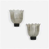 sconces (pair) by tomaso buzzi