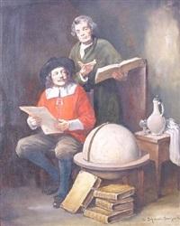 zwei gelehrte in der stube by leonhard wilhelm lehmann