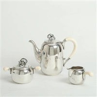 a coffee set (set of 3) by holger rasmussen