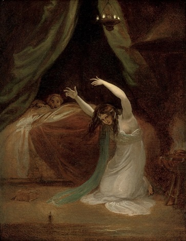 krimehild lamenting the death of siegfried by henry fuseli