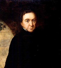portrait of evgeny abramovich baratynsky by orest adamovich kiprensky