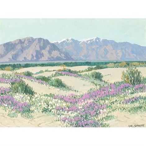 Desert Wild Flowers Palm Springs California By Carl Sammons On Artnet