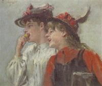 lachende mädchen im profil by emmanuel spitzer