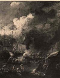 a naval engagement by caspar van eyck