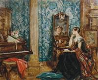 la dame au miroir by nestor cambier