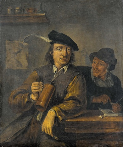 trinker in der stube by david teniers the younger