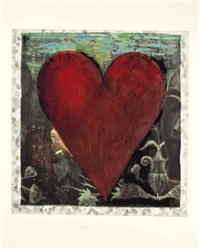 i (from the hand-colored viennese hearts) by jim dine