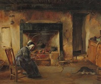 a fireside in arran by tom mcewan