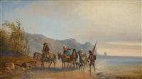 pêcheurs en bord de mer by jules breton