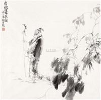 东坡策杖图 by ma guoqiang