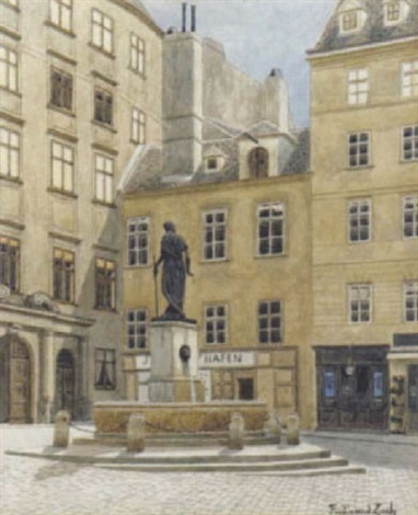 der franziskanerplatz in wien by ferdinand zach