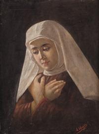 ritratto di monachella by angelo d' agata