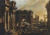 capriccio romano con porto by alessandro salucci