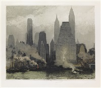 fog and mist, new york by luigi kasimir