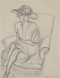 femme assise by henri matisse