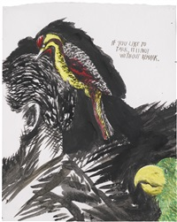 if you like to talk, it is not without remark by raymond pettibon