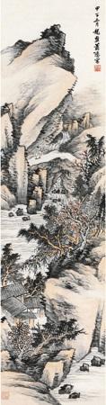 策杖观瀑 by xiao xun