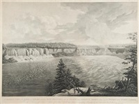 a distant view of the falls of niagara including both branches with the island and adjacent shores by john vanderlyn