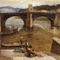 a bridge in florence by carl forup
