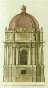 förslag till förändering av karolinska gravkorets exteriör by jean-eric rehn