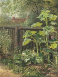 the corner of the garden by w. fisher