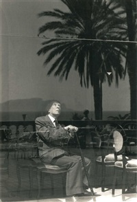 portrait de jorge luis borges : selinunte palermo et a villa (2 works) by ferdinando scianna