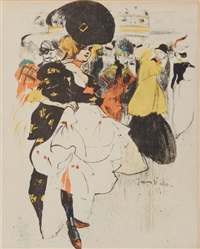 danseuse au moulin ruge by jacques villon