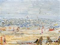vue de plage by henri victor wolvens