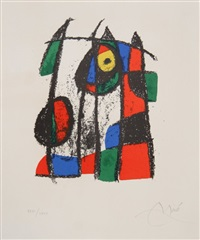 lithograph ii (m. 1043) by joan miró