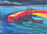 la jetée de larmor plage by jean-yves couliou